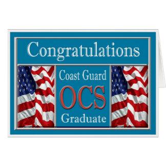 Cartão militar da graduação da guarda costeira OCS