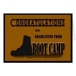 Cartão militar da graduação de Boot Camp