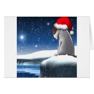 Cartão Milo do Natal (o filhote de cachorro de bull