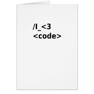 Cartão Mim código <3