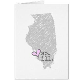 Cartão mim coração illinois do sul