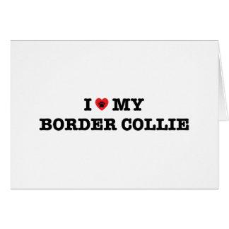 Cartão Mim coração meu border collie