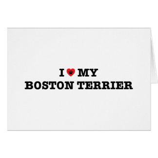 Cartão Mim coração minha Boston Terrier