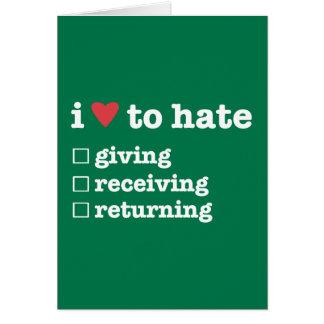 Cartão mim coração para diar a doação/recepção/que