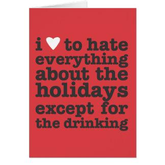 Cartão mim coração para diar feriados