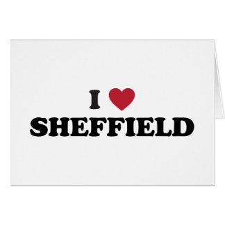 Cartão Mim coração Sheffield Grâ Bretanha