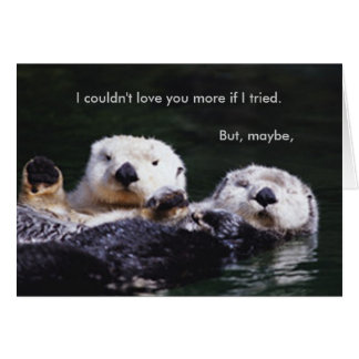 Cartão Mim respeito da lontra você mais