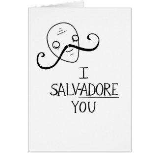 """Cartão """"MIM SALV-ADORE VOCÊ"""" namorados surreais"""