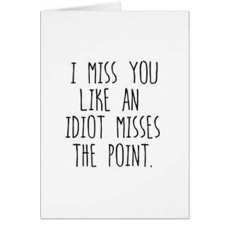 Cartão Mim senhorita Você