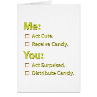 Cartão Mim você doces