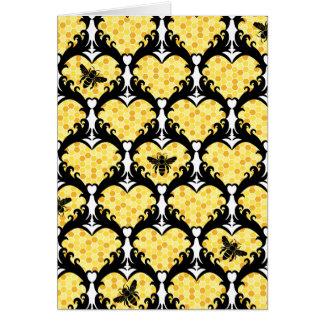 Cartão Mina da abelha, namorados do mel