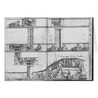 Cartão Mina de prata de Croix-auxiliar-Minas do La,