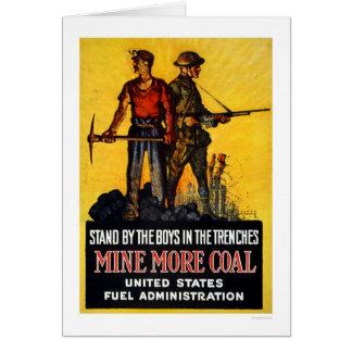 Cartão Mine mais carvão