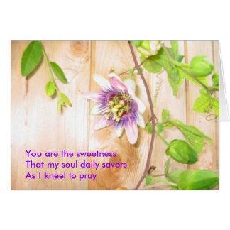 Cartão Minha alma Savors diariamente