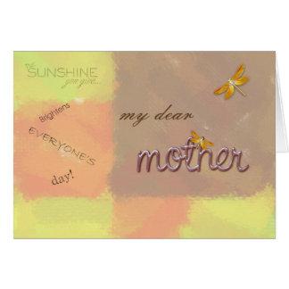 Cartão minha cara mãe