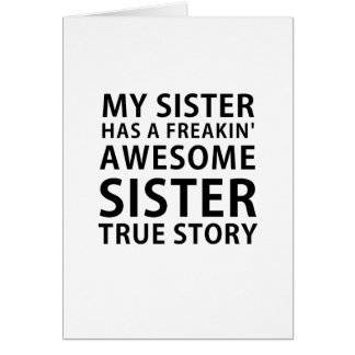 Cartão Minha irmã tem uma história verdadeira da irmã