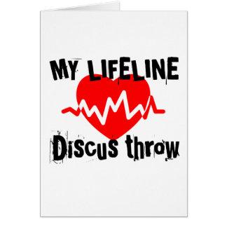 Cartão Minha linha de vida lance de disco ostenta o
