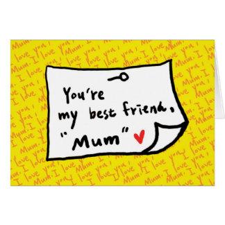 Cartão minha mamã, meu melhor amigo