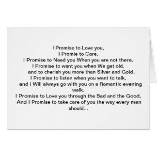 Cartão Minha promessa a você