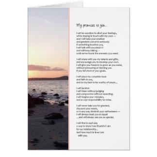 Cartão Minhas promessas a você… romance