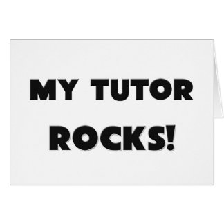 Cartão MINHAS ROCHAS do tutor!