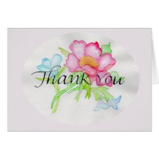 Cartão Mini buquê floral TY do rosa selvagem cor-de-rosa