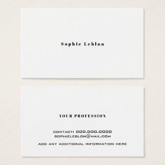 cartão minimalista do contato com nome de pia