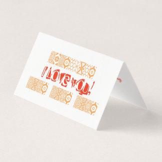 Cartão minimalista do dia dos namorados