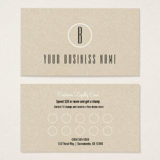 Cartão mínimo rústico da lealdade do cliente de