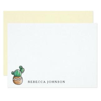 Cartão Mínimo rústico do cacto do Succulent