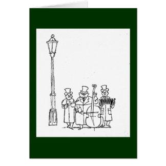 Cartão Minstrels dando uma volta de Frederick & de Nelson