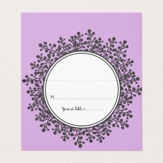 Cartão MINÚSCULO da escolta da mesa do assento de