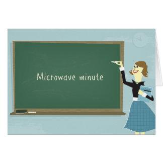 Cartão minúsculo da microonda