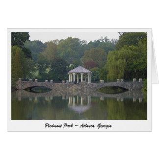 Cartão Miradouro no parque de Piedmont - Atlanta, GA