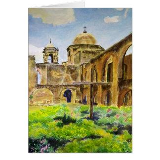 Cartão Missão de San Jose em San Antonio, Texas