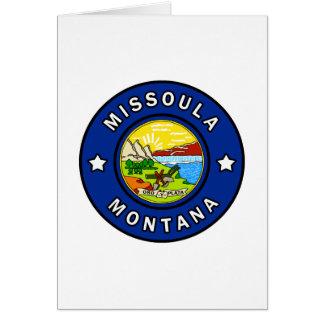 Cartão Missoula Montana