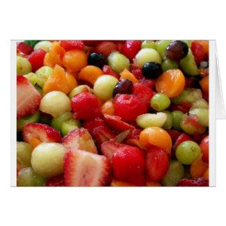 Cartão mistura da salada de fruta