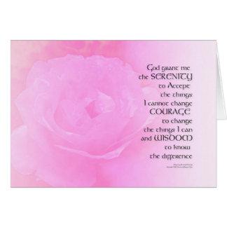 Cartão Mistura do rosa do rosa da oração da serenidade