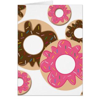 Cartão Mistura doce de rosquinhas