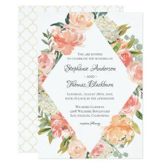 Cartão Mistura floral da aguarela do verão