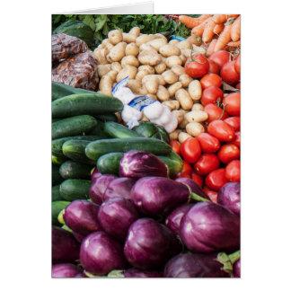 Cartão Mistura vegetal das batatas dos tomates dos