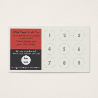 Cartão misturado da lealdade do cartão de visita