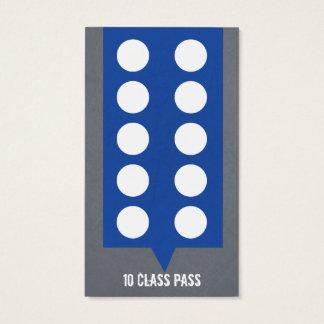 Cartão misturado da passagem da classe do cartão