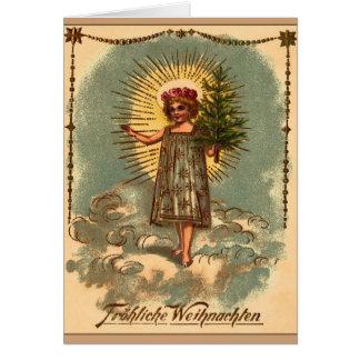 """Cartão Mit Weihnachtsbaum de Weihnachtskarte """"Engel """" do"""