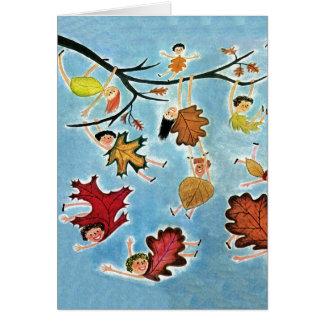 Cartão Miúdos da folha