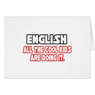 Cartão Miúdos legal do inglês…