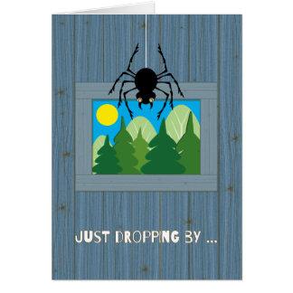 Cartão Miúdos na aranha do acampamento de Verão que deixa