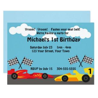 Cartão Miúdos que competem a festa de aniversário