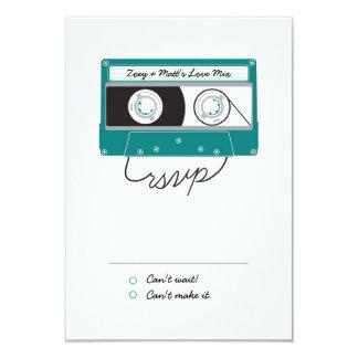Cartão Mixtapes Indie (cerceta/prata) RSVP