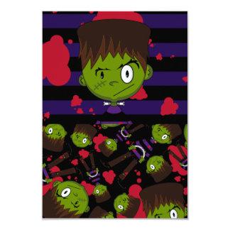 Cartão modelado monstro de Frankensteins RSVP Convites Personalizado